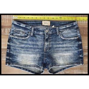 BKE Buckle Payton Denim Wash Jean Shorts 29 32